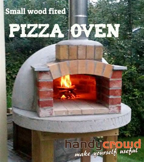 build small wood fired pizza oven cm   handycrowdcom