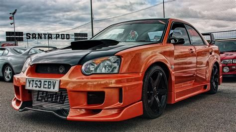 subaru tuner car orange subaru impreza tuning race car wallpaper http