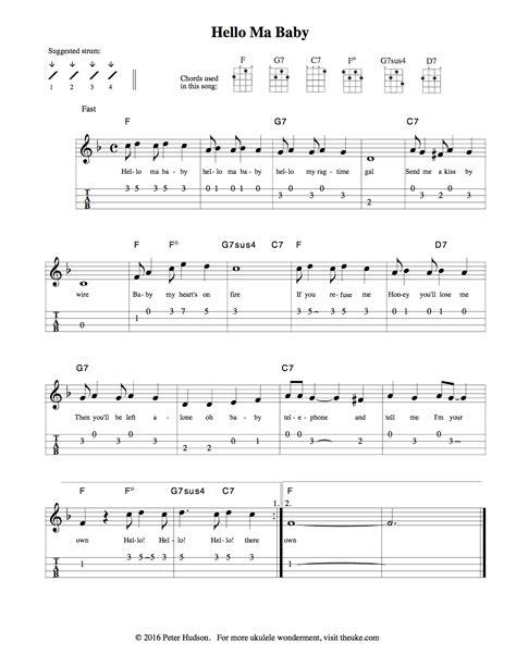 printable sheet music for ukulele ukulele sheet music theuke com