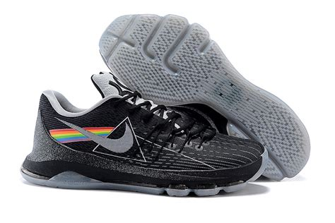 kd 8 sneakers 2015 new kd 8 shoes side of the moon black grey