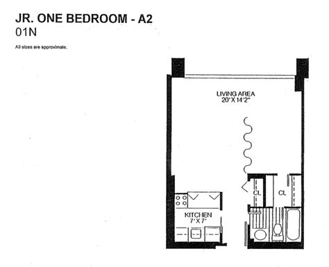 Junior 1 Bedroom | the willoughby of chevy chase floor plans the