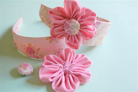Handmade Flowers From Paper And Fabric - eastercrafts adhesive fabric paper flowers tutorial