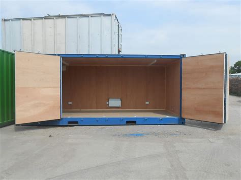Barn Doors Cafe Shipping Containers 20ft Full Side Opening Lined And