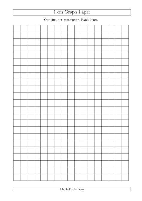 1 cm Graph Paper with Black Lines (A4 Size) (A)