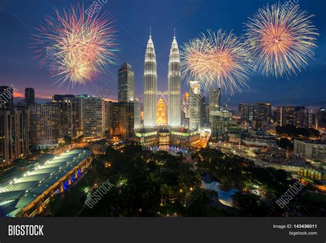 new year delivery kl kuala lumpur skyline fireworks image photo bigstock