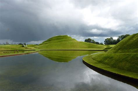 Landscape Jupiter Charles Jencks Cells Of Is A Manmade Landscape