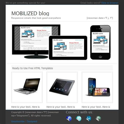 free html email template malibu email marketing tips 70 best html email newsletter templates