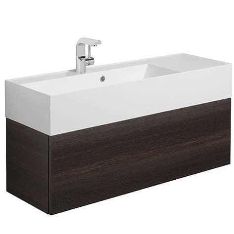 bauhaus elite panga slim line single vanity basin unit 1000mm