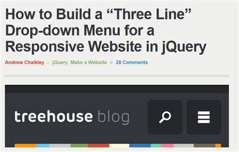responsive layout menu to drop down 40 best responsive design tutorials