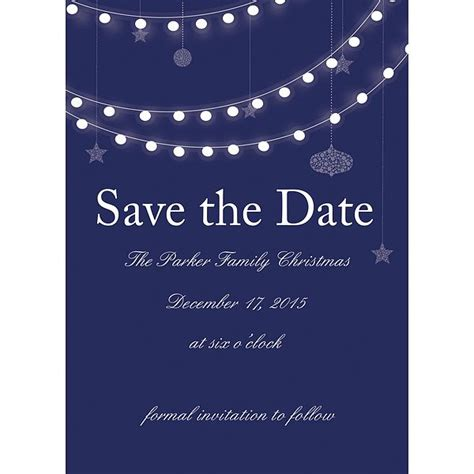 holiday lights christmas party save the date cards