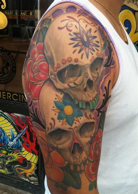 tattoo parlor white plains sugar skulls and roses by jon mesa tattoonow