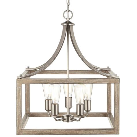 home decorators collection 5 light brushed nickel pendant