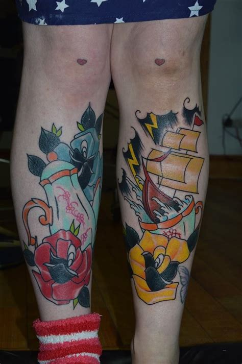 tattoo prices high wycombe shin tattoos teapot roses and storm in a teacup by