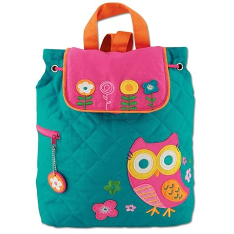 teal owl stephen joseph quilted backpack