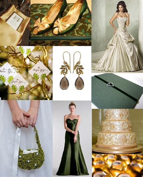 forest green and gold wedding theme the wedding