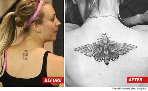 kaley cuoco gets butterfly tattoo to cover her wedding ink
