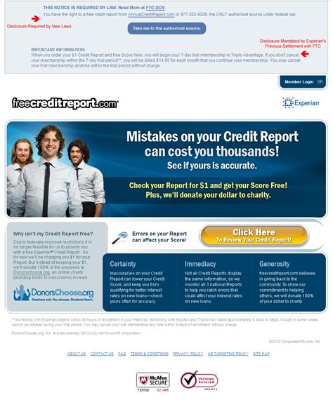 Free Credit Report by Freecreditreport Is No Longer Free