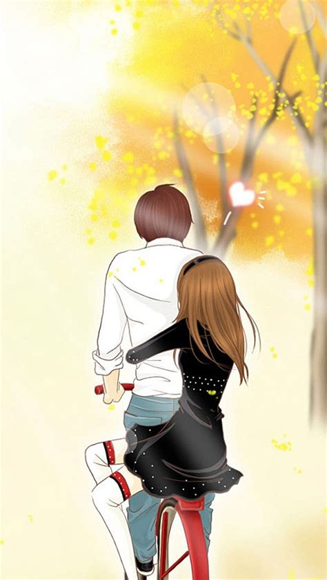 cute cartoon couple wallpapers  mobile