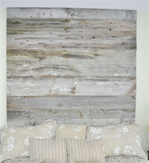reclaimed wood headboard diy installation made from real