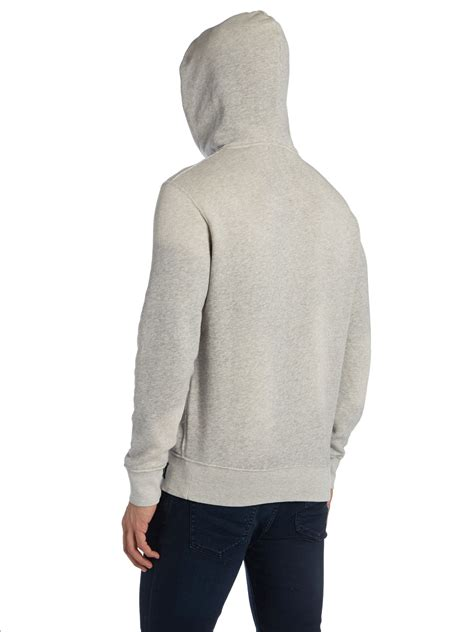 Hoodie Jumper Project You Logos polo ralph polo logo hooded sweater in gray for