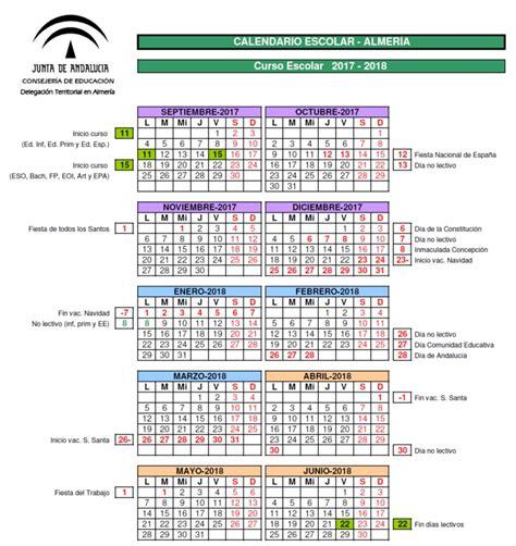 Calendario 2018 Andalucia Calendario Escolar