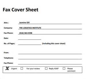 Fax Cover Sheet Pdf by Fax Cover Sheet 27 Free Documents In Pdf