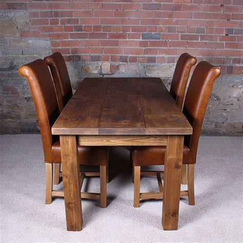 wood dining table solid wood dining table by h f notonthehighstreet com