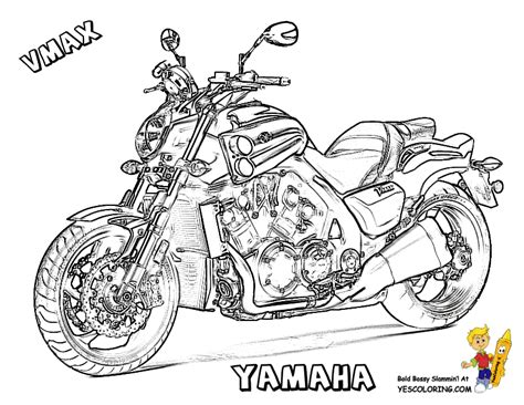 yamaha motorcycle coloring pages free super motorbike coloring pages