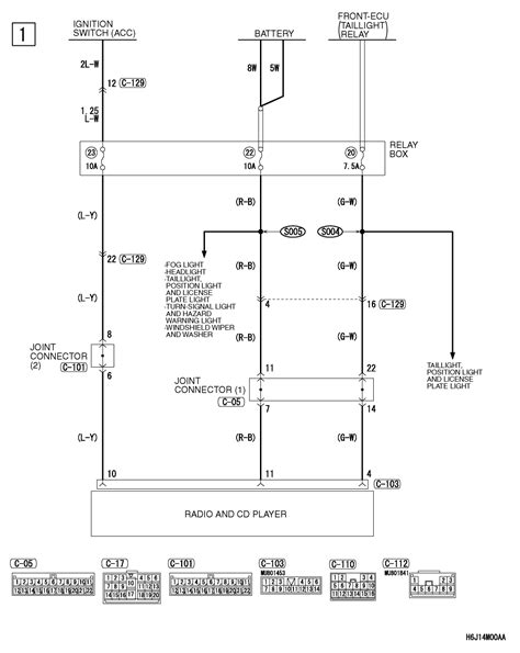 mitsubishi lancer lancer 2006 wiring diagram for the radio