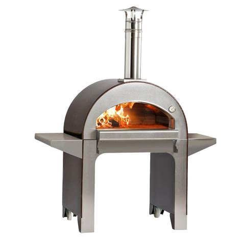 alfa pizza 31 5 in x 23 5 in outdoor wood burning pizza