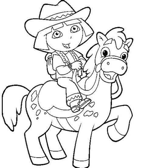 coloring pages of horse riders dora the explorer horse riding coloring pages coloring