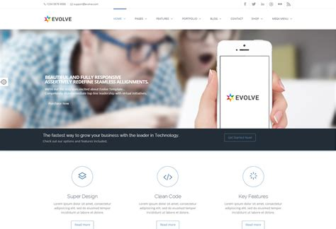 themes wordpress evolve evolve premium responsive retina ready multipurpose