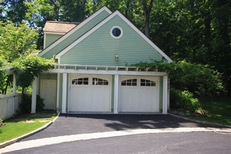 Pergola Garage by Pergola The Garage Traditional Shed New York