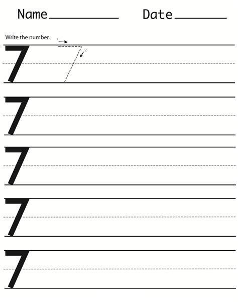 number 7 worksheets number 7 worksheets for preschools activity shelter