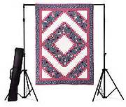 with strings attached quilt display stand