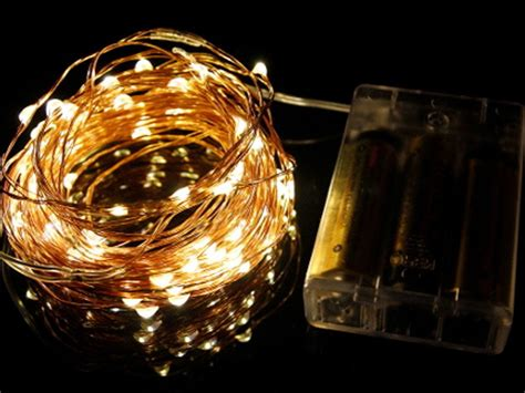 seed fairy lights copper 10m battery led