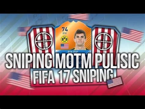christian pulisic in fifa 17 fifa 17 sniping motm christian pulisic 3 insane
