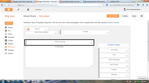 membuat blog menu cara membuat menu navigasi di blog ghani share