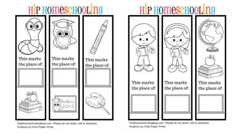 free printable of bookmarks free printable bookmarks to color and personlize