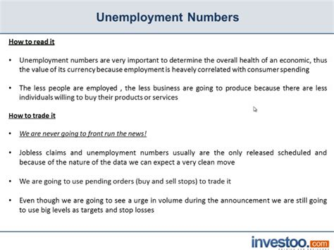 unemployment numbers definition investoo trading
