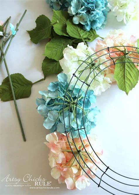 wreath diy easy diy hydrangea wreath hometalk
