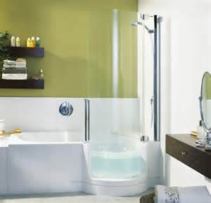 Small Bathrooms With Bath And Shower Twinline Showers Modern Tub Shower For Small Space From