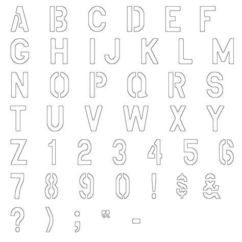 printable military letter stencils military lettering stencils free