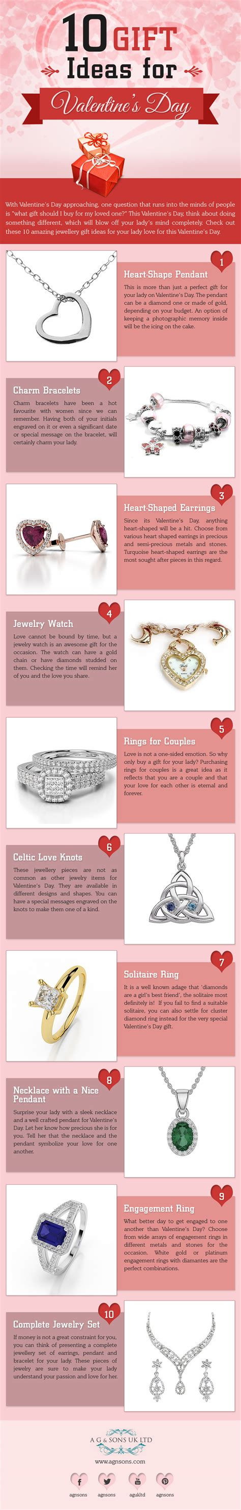 best valentine s day gift ideas top 10 valentine s day gift ideas for her infographic