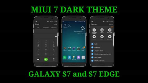 best themes for s7 edge miui 7 dark theme for galaxy s7 and s7 edge tema miui 7