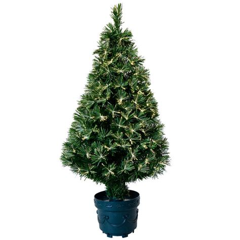3ft 90cm beautiful green open burst fibre optic christmas tree