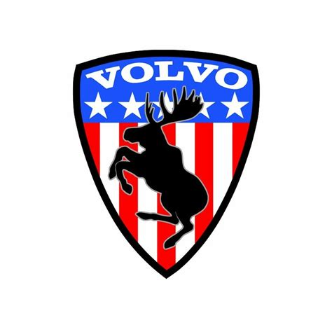 volvo prancing moose sticker usa flag play   ferrari prancing pony ebay