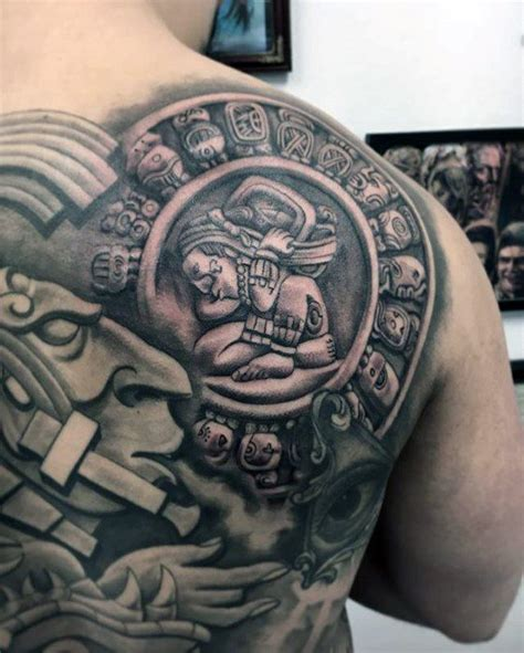 mayan tattoos for men 40 mayan calendar designs for tzolkin ink ideas