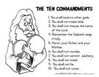 Ten commandment coloring page