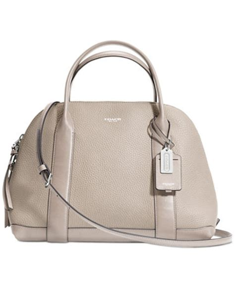coach bleecker satchel in pebbled leather coach